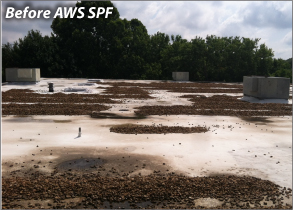 Ballasted Roofing Before AWS