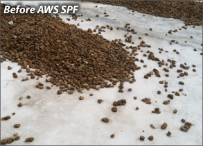 Ballasted Roof Before AWS Coatings